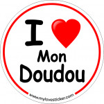 STICKER I LOVE MON DOUDOU