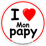STICKER I LOVE MON PAPY