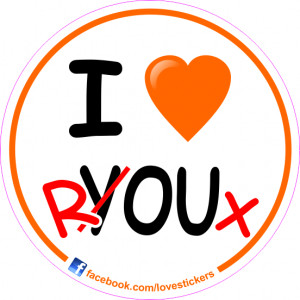 STICKER I LOVE ROUX