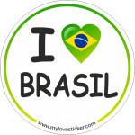 STICKER I LOVE BRASIL