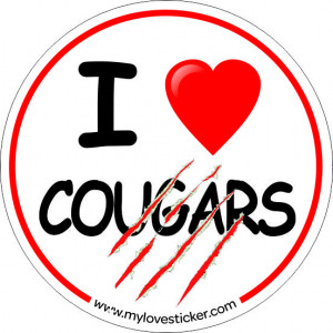 STICKER I LOVE COUGARS