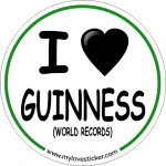STICKER I LOVE GUINESS