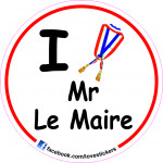 STICKER I LOVE MR LE MAIRE