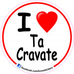 STICKER I LOVE TA CRAVATE