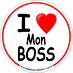STICKER I LOVE MON BOSS