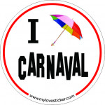 STICKER I LOVE CARNAVAL