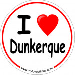 STICKER I LOVE DUNKERQUE