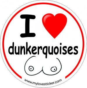 STICKER I LOVE DUNKERQUOISES