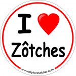 STICKER I LOVE ZOTCHES