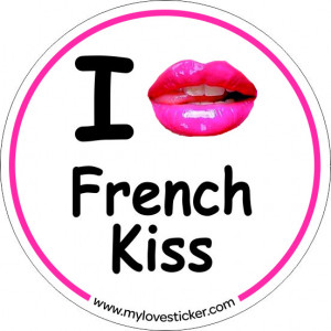 STICKER I LOVE FRENCH KISS