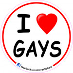 STICKER I LOVE GAYS