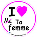 STICKER I LOVE TA FEMME