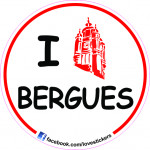 STICKER I LOVE BERGUES