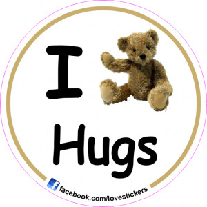 STICKER I LOVE HUGS