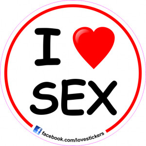 STICKER I LOVE SEX