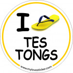 STICKER I LOVE TES TONGS