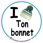 STICKER I LOVE TON BONNET