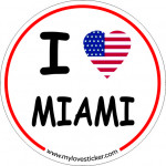 STICKER I LOVE MIAMI