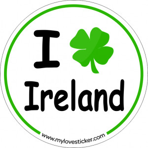 STICKER I LOVE IRELAND