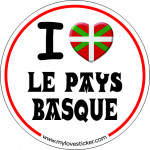 Sticker i love le pays basque