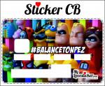 STICKER CARTE BLEUE BALANCE TON PEZ