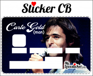 STICKER CARTE GOLD (MAN)