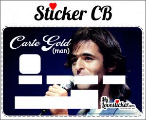 STICKER CARTE GOLD (MAN)