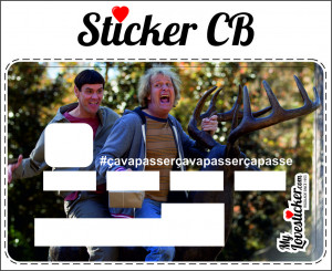 STICKER CARTE BLEUE DUMB AND DUMBER