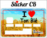 STICKER CARTE BLEUE I LOVE TON BLE