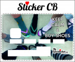 STICKER CARTE BLEUE KEEP CALM AND BUY SHOES