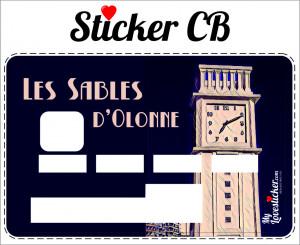 STICKER CARTE BLEUE LES SABLES D'OLONNE