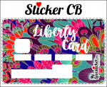STICKER CARTE BLEUE LIBERTY A PLUMES