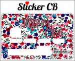 STICKER CARTE BLEUE LIBERTY A FLEURS