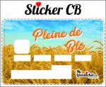 STICKER CARTE BLEUE PLEINE DE BLE